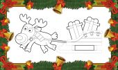 Christmas exercise - coloring page — Stock Photo