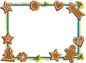 Cartoon Christmas frame — Stock Photo