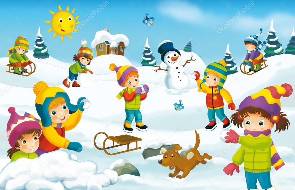 winter cartoon with children stock photo  u00a9 agaes8080 ice skating clipart images ice skating clipart images free