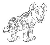 Coloring page - hyena — Stock Photo