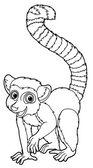 Lemur -  coloring page — Stock Photo