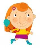 Cartoon child girl — Stock Photo