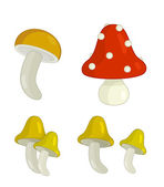Cartoon mushroom set — Foto Stock