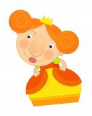 Cartoon princess child — Stock Photo