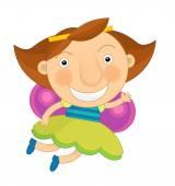 Cartoon Fairy child — Stock Photo