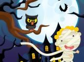 Cartoon halloween mummy — Stock Photo