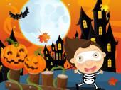 Cartoon halloween skeleton — Stock Photo