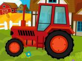 Tractor on the farm — Stock Photo