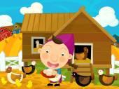 Girl on the farm — Zdjęcie stockowe