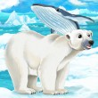 Polar bear and whale — Stock Photo #60450201