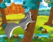 Cartoon squirrel — Stock Photo