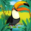 Постер, плакат: Cartoon toucan