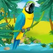Постер, плакат: Cartoon parrot