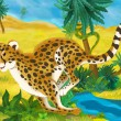 Постер, плакат: Cartoon cheetah animal