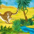 ������, ������: Cartoon cheetah animal