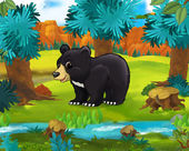 Cartoon Caricature bear — Stock Photo