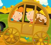 Fairytale Cartoon scene — Foto Stock