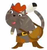 Cartoon cat - Puss in Boots — Stock Photo