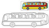 Cartoon bus - illustration — Stock Photo