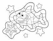 Fish - coloring code — Stock Photo