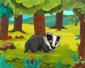 Cartoon animal - badger — Stock Photo