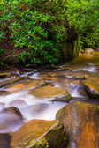 Cascades on Carrick Creek, at Table Rock State Park, South Carol — Stock Photo