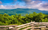Fence and view from the slopes of Grandfather Mountain, near Lin — Stock Photo