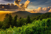 Sunset over the Appalachian Mountains from Caney Fork Overlook o — Foto Stock