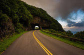 The Craggy Pinnacle Tunnel, on the Blue Ridge Parkway in North C — Stock Photo