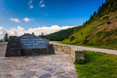 The highest point on the Blue Ridge Parkway, in North Carolina.  — Stock Photo