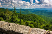 View of Appalachian Mountains from the Blue Ridge Parkway in Nor — Foto Stock