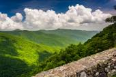 View of the Appalachian Mountains from the Blue Ridge Parkway, N — Foto Stock