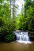 Cachoeira em carrick creek, no parque de estado table rock, caro sul — Fotografia Stock