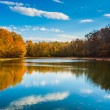 Autumn color at Lake Marburg, Codorus State Park, Pennsylvania. — Stock Photo #52575945