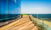 Ein Balkon mit Blick auf den Atlantik schwelgen Hotel Casino in atla — Stockfoto