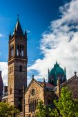 A cathedral in Boston, Massachusetts.  — Stock Photo