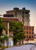Abandoned buildings on a street in Baltimore, Maryland. — Stock Photo