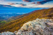 Autumn view from Crescent Rock, Shenandoah National Park, Virgin — Stock Photo