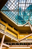 Balconies and the ceiling inside The Gallery in the Inner Harbor — Stock Photo