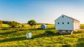 Barn on a farm in rural York County, Pennsylvania. — Stock Photo