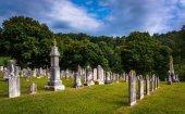 Cmentarz w glenville, pensylwania. — Zdjęcie stockowe