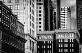 Cluster of buildings in downtown Boston, Massachusetts.  — Stock Photo