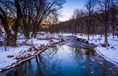 Creek during the winter, in rural York County, Pennsylvania.  — Stock Photo