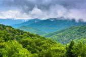 Dramatic view of the Appalachian Mountains from Newfound Gap Roa — Foto Stock