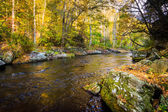 Early autumn color along the Gunpowder River in Gunpowder Falls  — Stock Photo