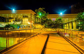 Elevated walkway and the Convention Center at night in Baltimore — Stock Photo