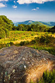 Evening view toward Old Rag from Thoroughfare Overlook, on Shena — Stock Photo