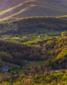 Farms and houses in the Shenandoah Valley, seen from Skyline Dri — Stock Photo