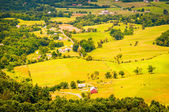 Farms in the Shenandoah Valley, seen from Skyline Drive in Shena — Stock Photo