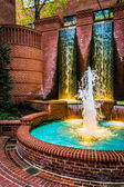 Fountains in downtown Lancaster, Pennsylvania.  — Stock Photo